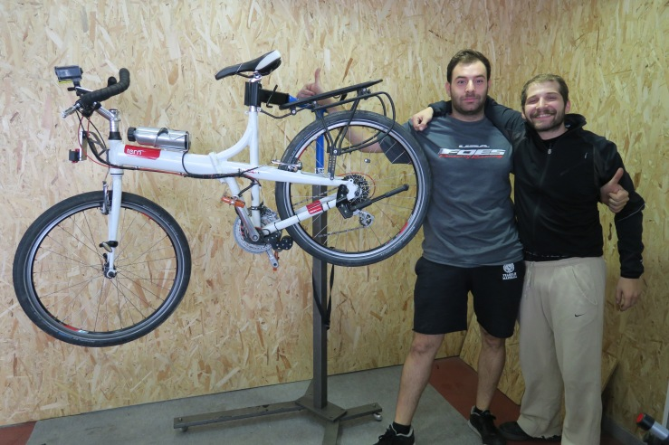 Simos Effraimiadis and myself - so happy that I found Redivider to set up the bike professionally