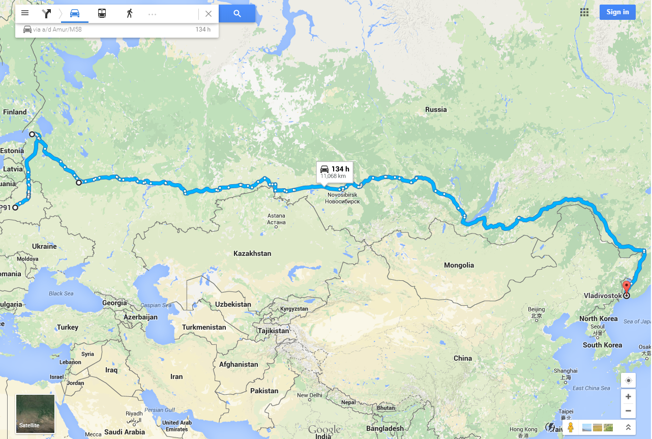 What is the distance from Moscow to Riga