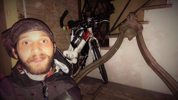 Found hostel after 2 hours!!! Nice to have a folding bike!