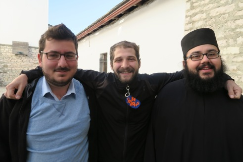 Alexios, myself and Fr. Eleftherios