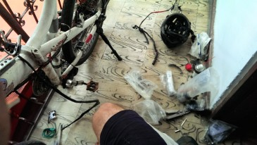 Fixing the bicycle