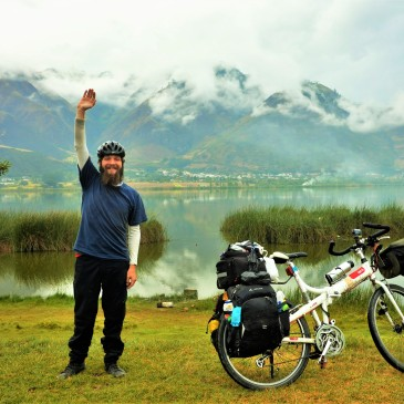 Hi there, what's up? At this very moment I guess it actually happened. My first flat tire in 8000km and 11 countries. Ecuador, July 2016