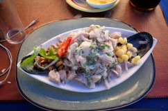 lovely ceviche (traditional peruvian food)