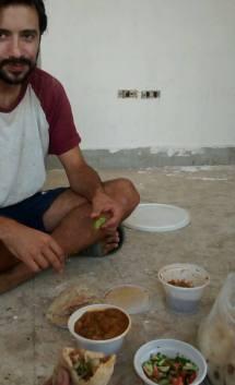 το μεσημεριανό μας στο χόστελ που δουλεύαμε εθελοντικά.. μισα΄ά