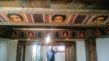 παραδοσιακή ζωγρεαφική στην Αιθιοπία. Αυτά είναι κεφάλια Αγγέλων